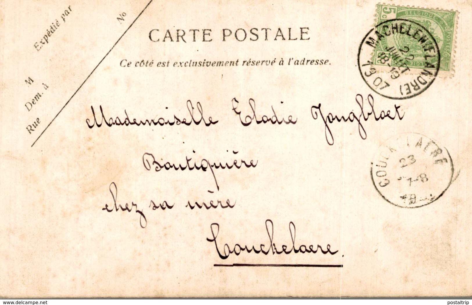 1907   PENSIONNAT DE MACHELEN LE DORTOIR ST LOUIS - Zulte