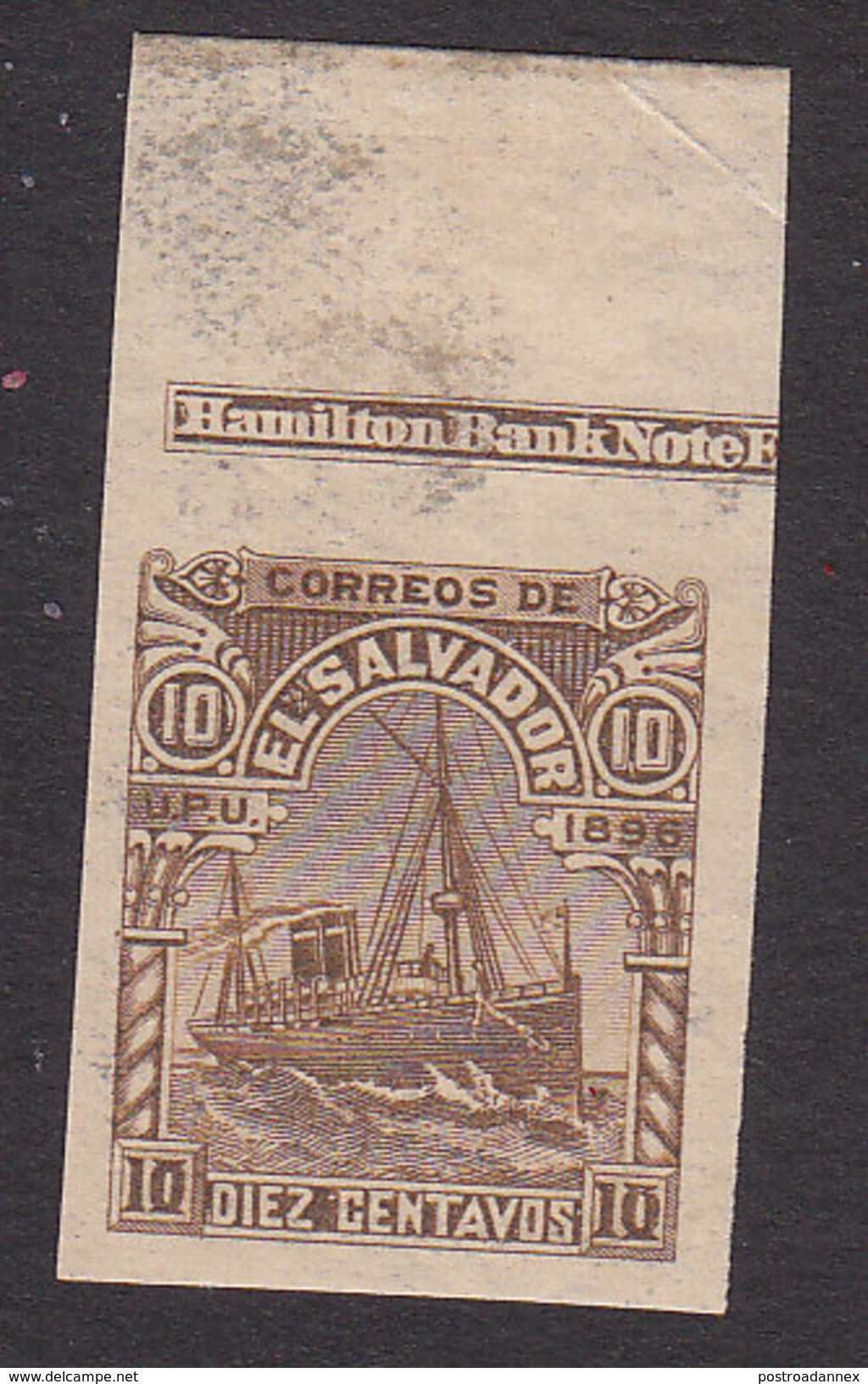 El Salvador, Scott #150, Mint Hinged, Ocean Steamship, Issued 1896 - El Salvador
