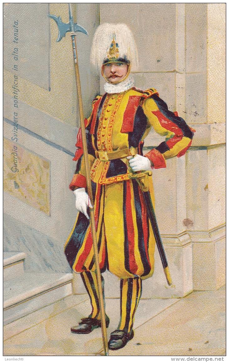 Italien 1906 - 1909 Cartolina Postale. Guardia Svizzera Pontificia In Alta Tenuta. Mit Mi: 89 - 1900-44 Victor Emmanuel III