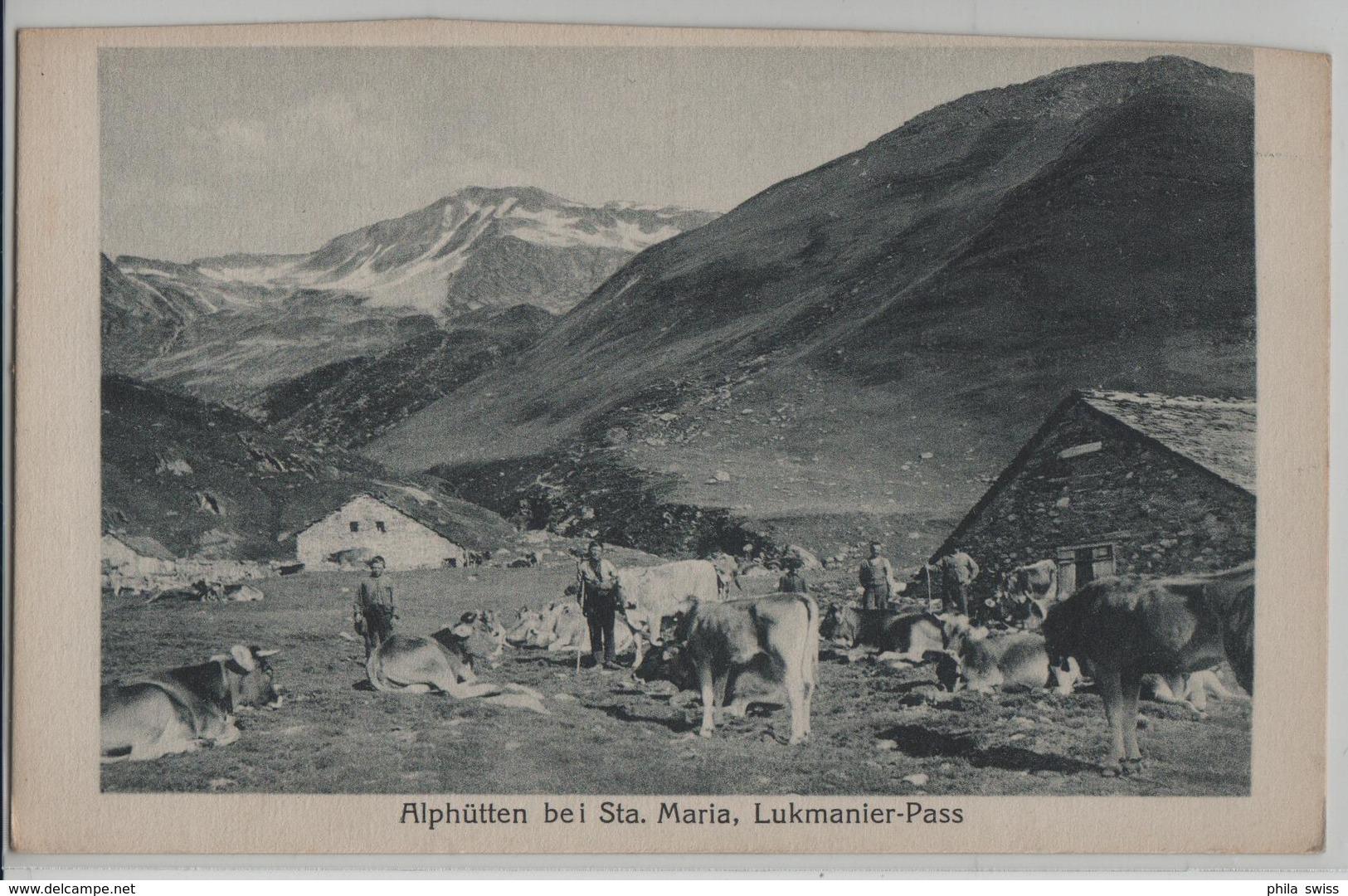 Alphütten Bei Sta. Maria, Lukmanier-Pass - Animee, Kühe, Vaches - Photo: M. Maggi - GR Grisons