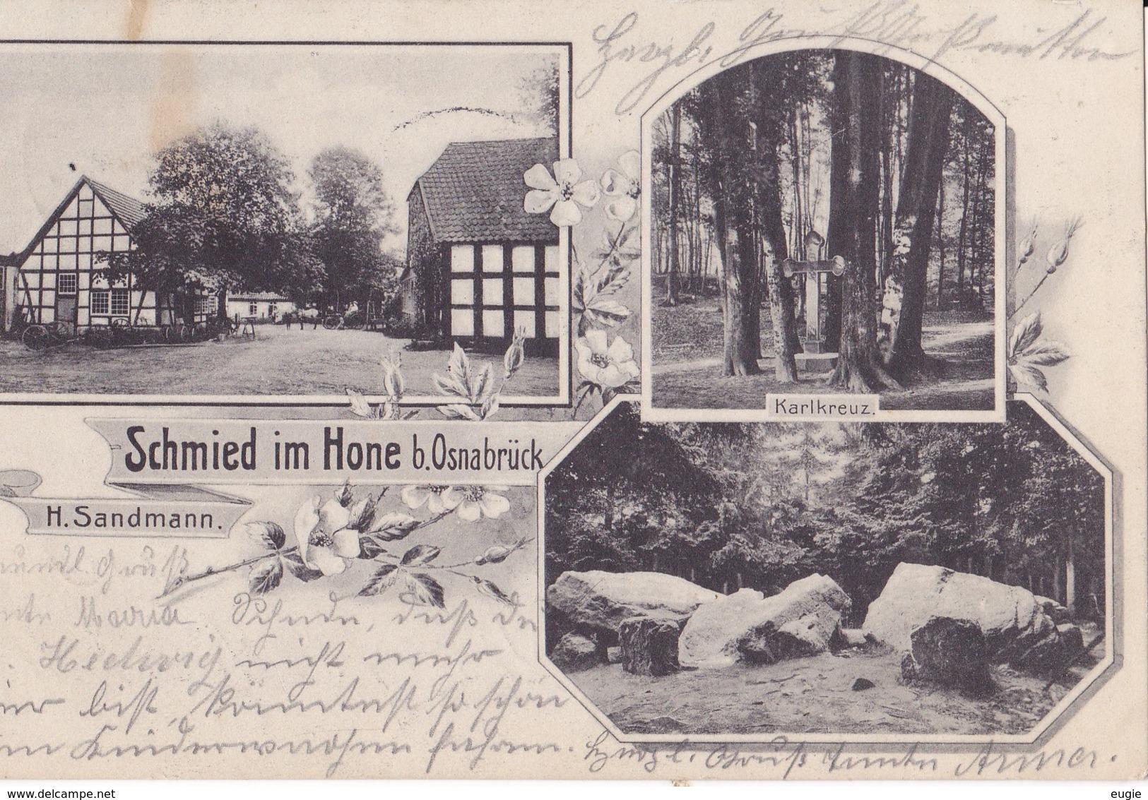 60/ Schmied Im Hone, Bei Osnabrück, H.sandmann, 1908 - Duitsland