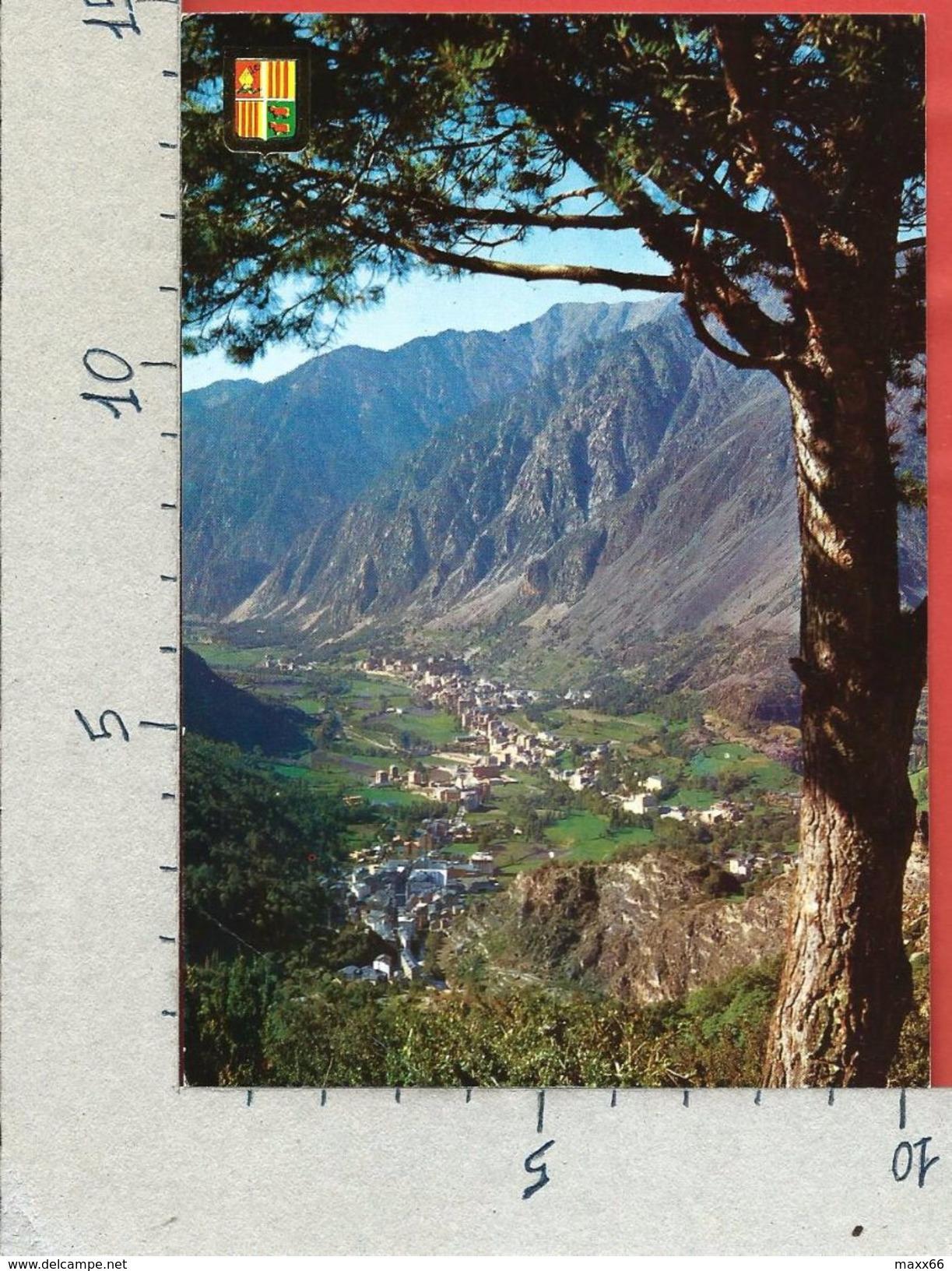 CARTOLINA NV ANDORRA - VALLS D'ANDORRA - Vue Generale Des Escaldes Et Andorra La Vella - 10 X 15 - Andorra