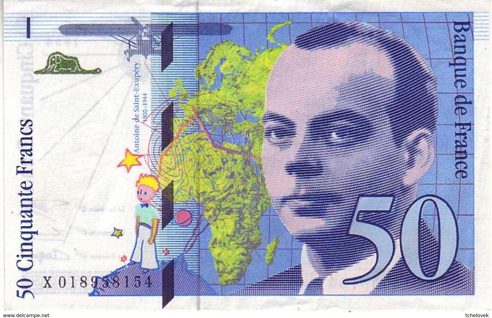 (Billets). France. 50 Fr St Exupery 1994 - 1992-2000 Dernière Gamme