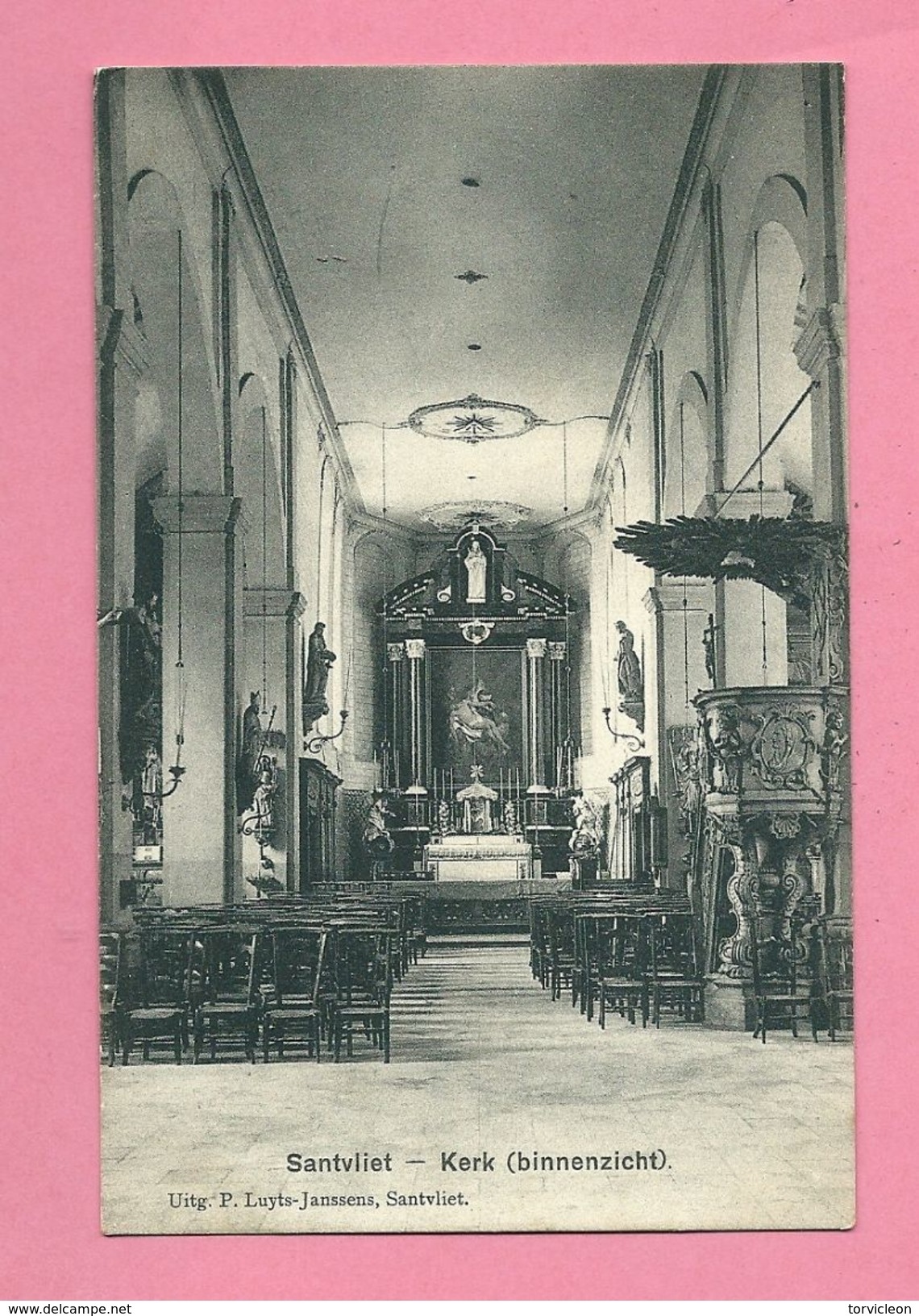 C.P. Zandvliet = Kerk   Binnenzicht - Antwerpen