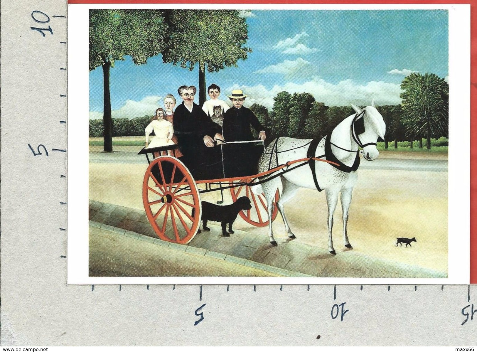 CARTOLINA NV FRANCIA - ROUSSEAU Dit Le Douanier - La Carriole Du Pere Junier - 10 X 15 - Pittura & Quadri