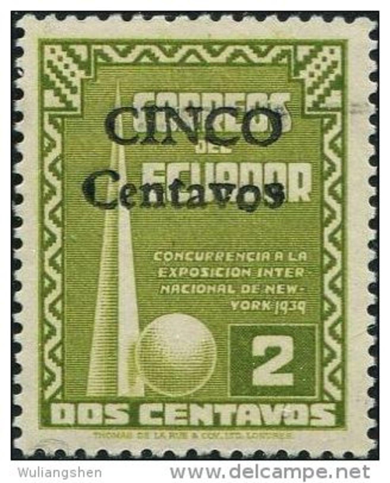 JA0292 Ecuador 1944 Expo Emblem Overprint 1v MNH - Ecuador