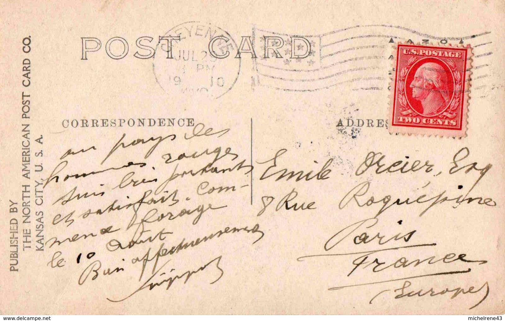 POST CARD 1909 - Indians At Home By W H MARTIN - Indiens De L'Amerique Du Nord