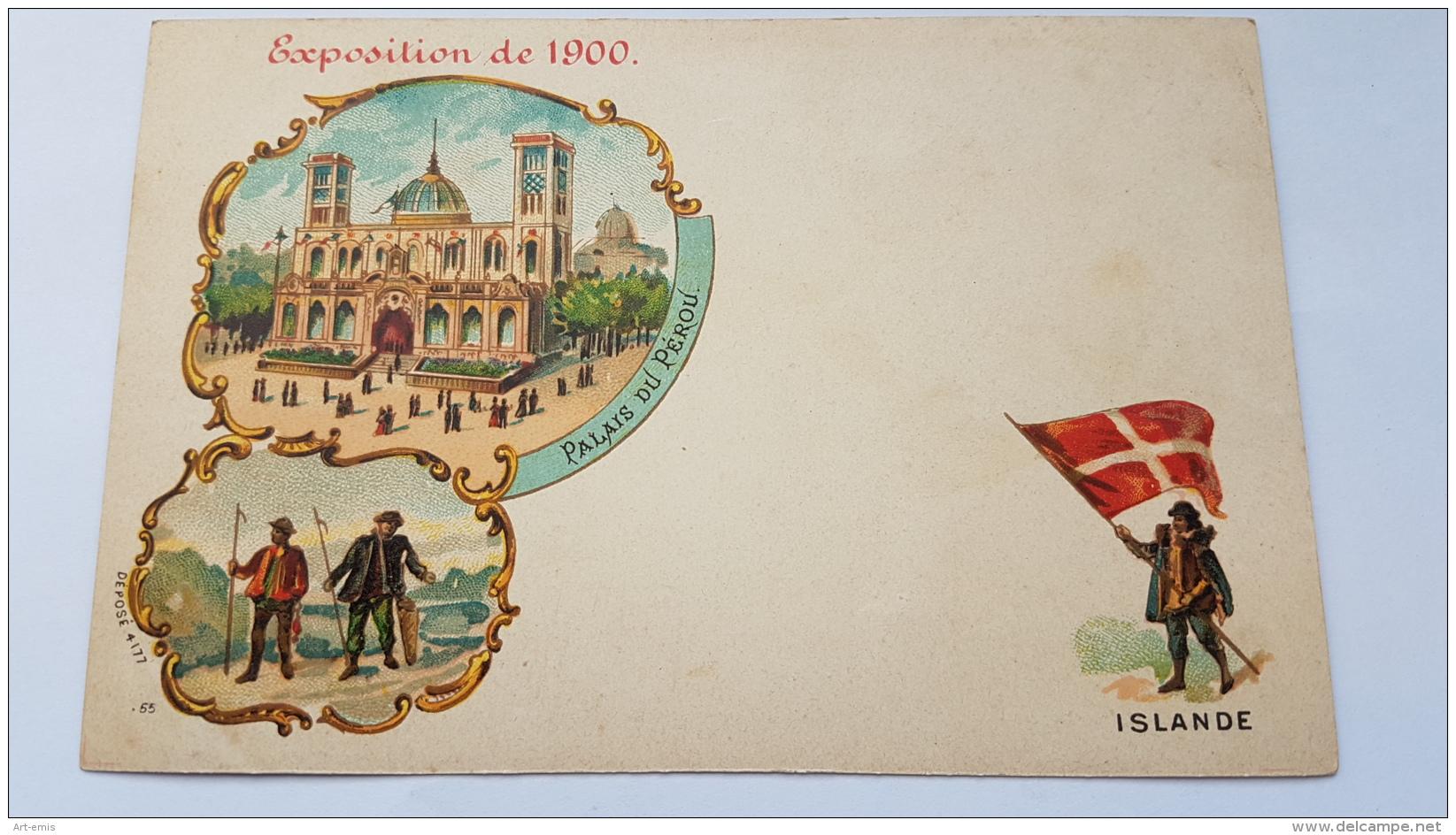 EXPOSITION 1900 ISLANDE Palais Perou CPA Postcard Animee - Geschiedenis