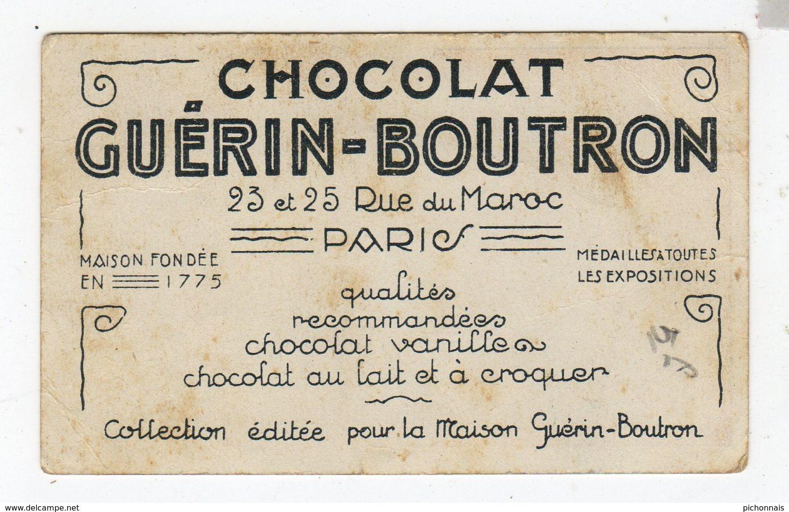 CHOCOLAT Guerin Boutron  Carte La Cigarette - Chocolat
