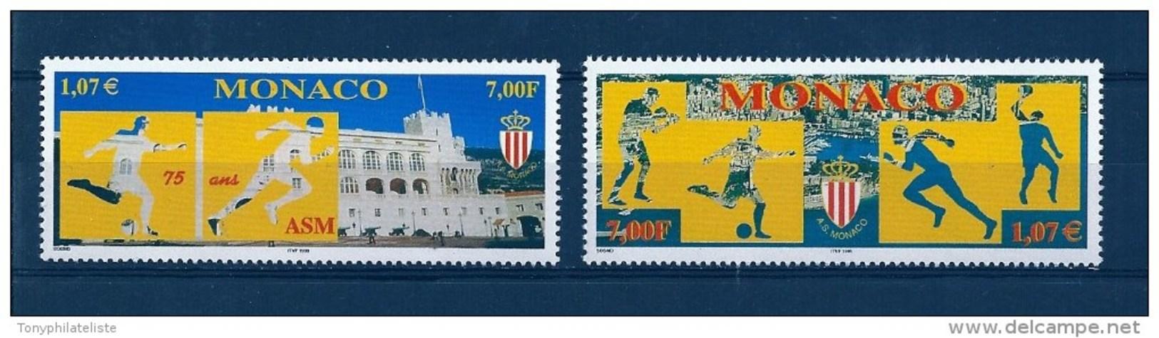 Monaco Timbres De 1999  N°2196 Et 2197  Neuf ** Parfait - Monaco