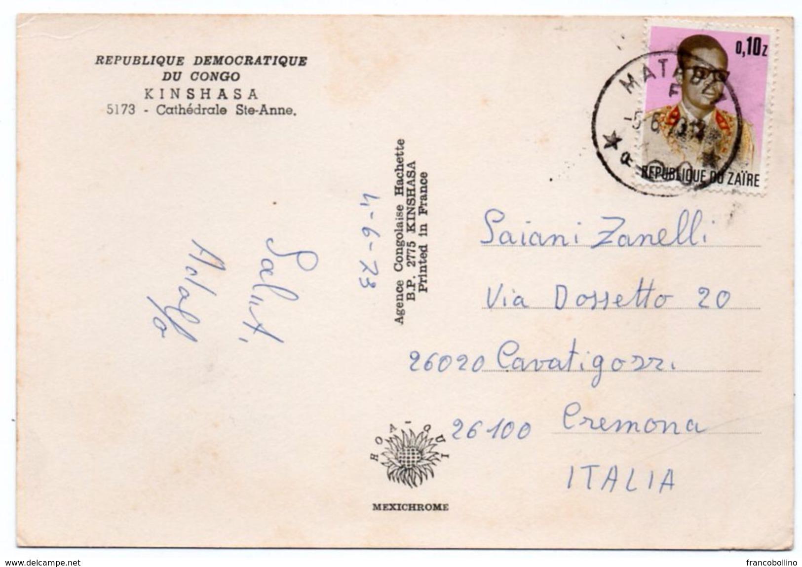 CONGO/ZAIRE - KINSHASA (LEOPOLDVILLE) CATHEDRALE STE-ANNE - Kinshasa - Leopoldville