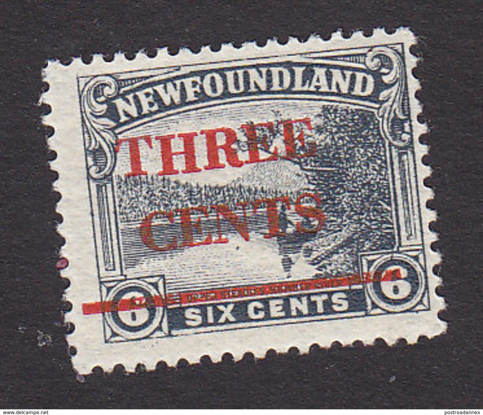 Newfoundland, Scott #160, Mint Hinged, Upper Steadies Surcharged, Issued 1929 - Terre-Neuve