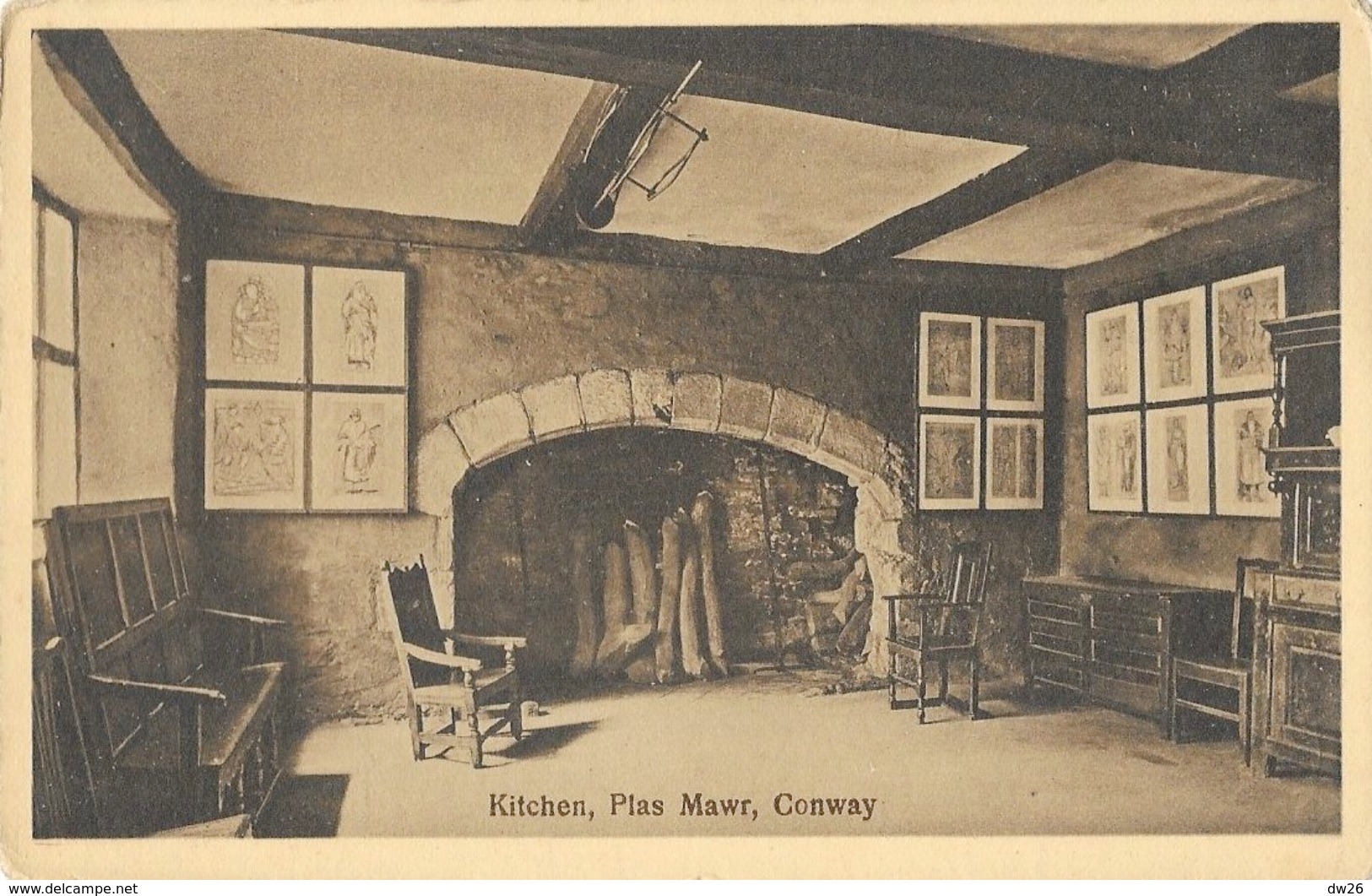 Conway (Conwy) - Plas Mawr, Kitchen - Carte Non Circulée - Pays De Galles