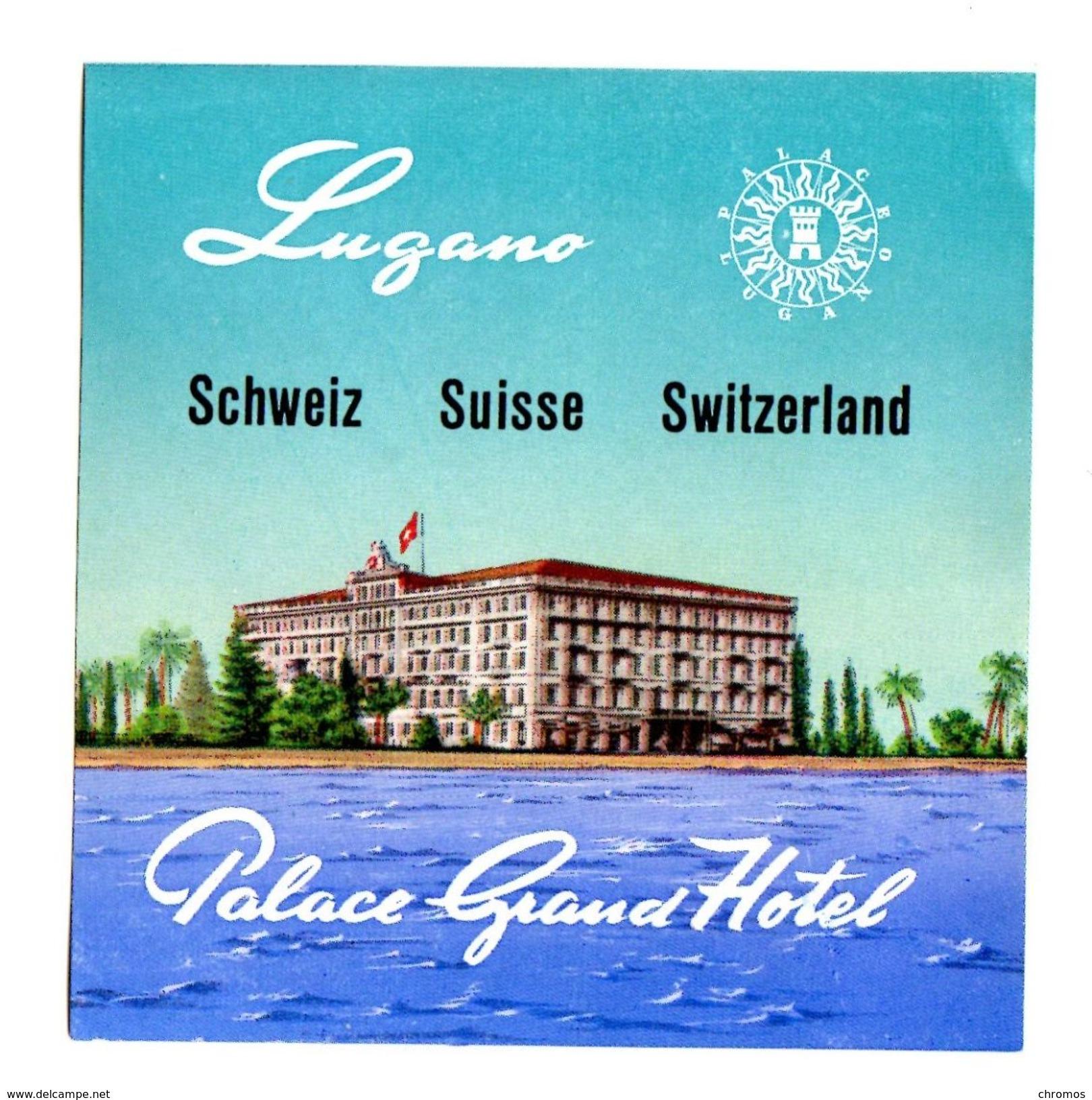 """Etiquette Label Hotel """"Palace Grand Hotel"""", Lugano, Suisse - Etiquetas De Hotel"""