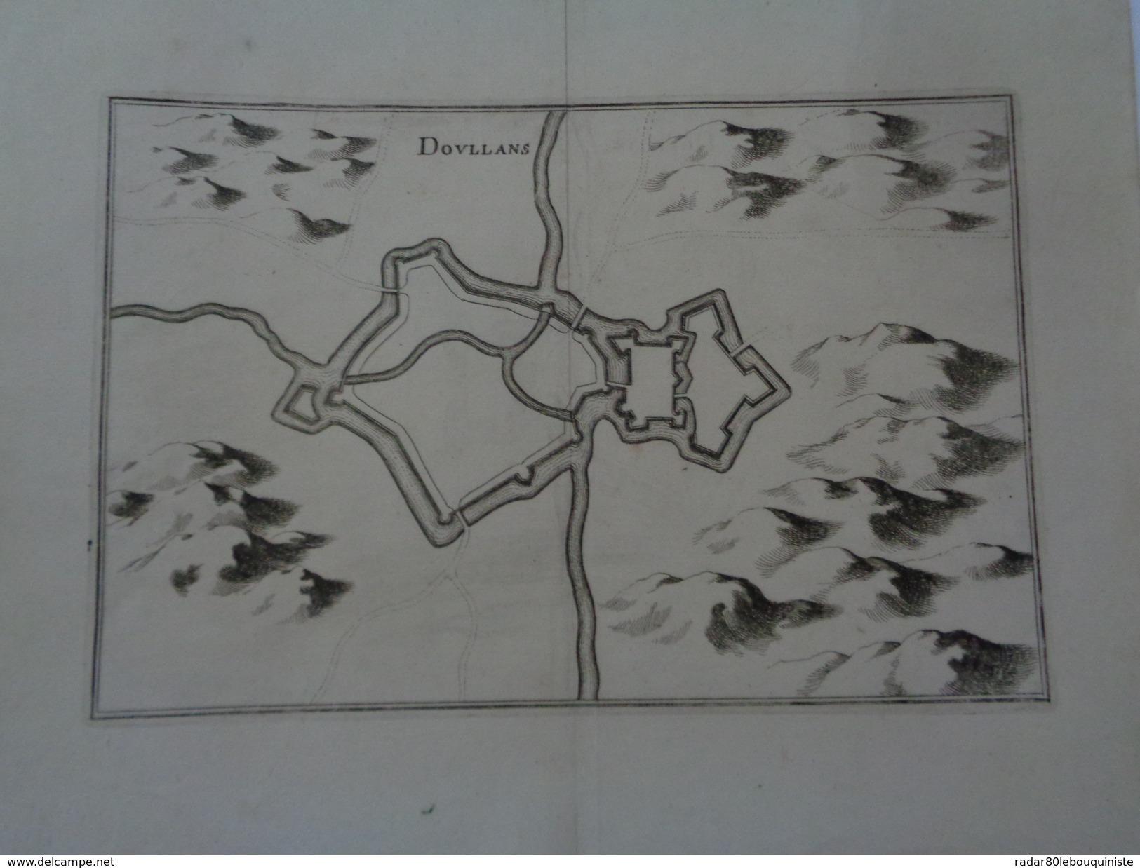 DOULLANS.(SOMME) Planche :35,5 X 28,5 Cm.pliure.MERIAN 17e.siècle.TTB. - Technical Plans