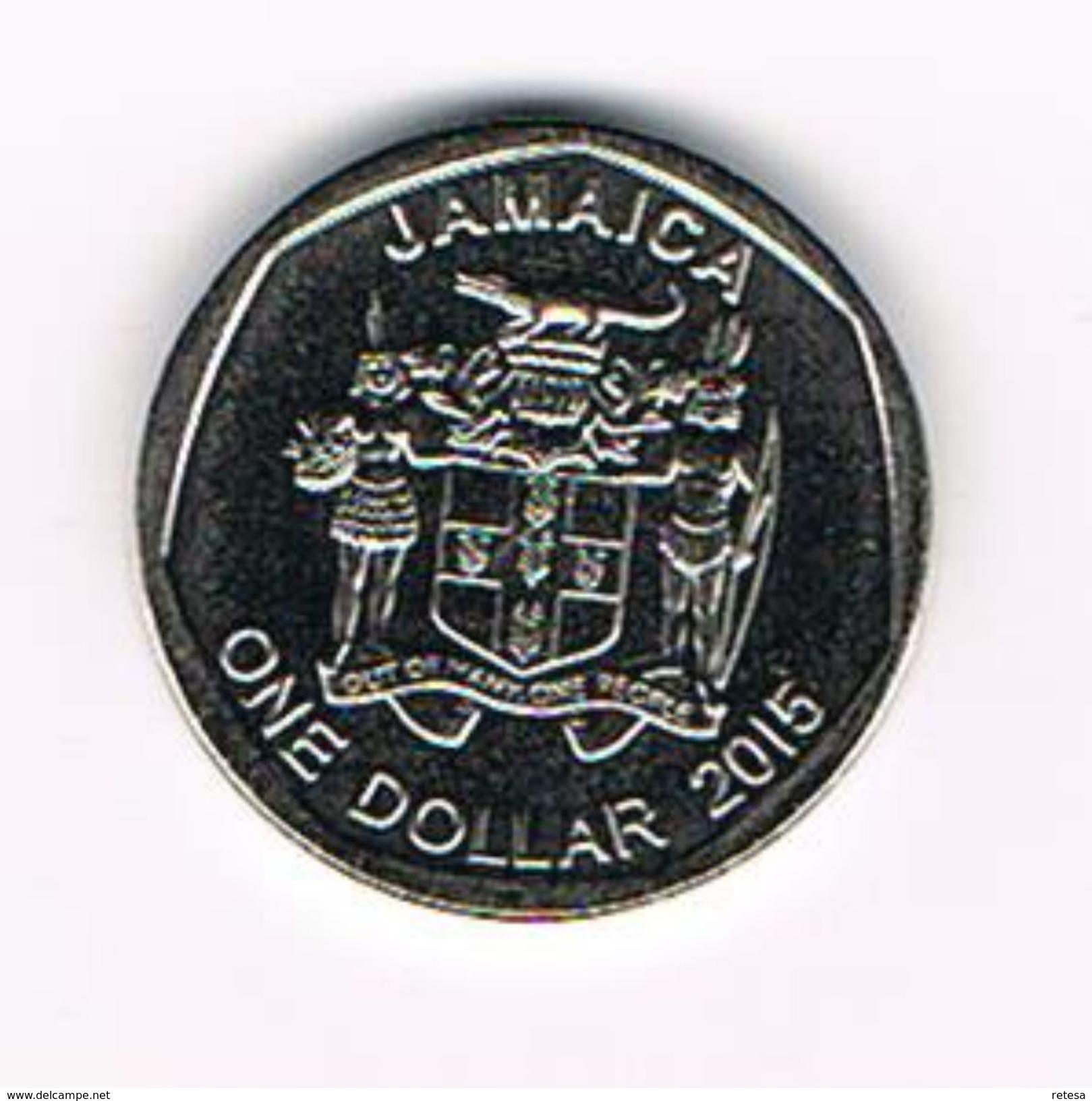 ) JAMAICA  1 DOLLAR  2015 - Jamaique