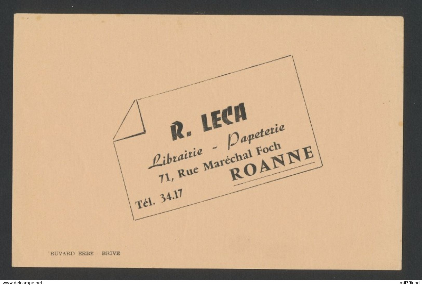 Buvard - LIBRAIRIE R.LECA ROANNE - L