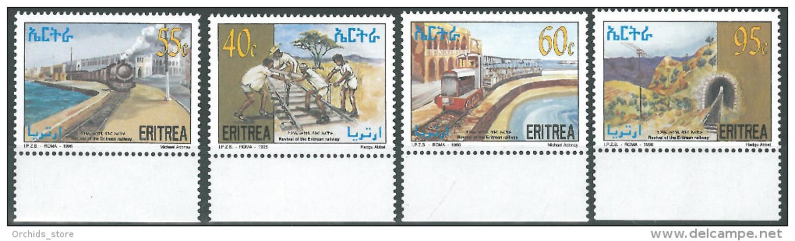ERITREA Erythrée 1996 MNH ** Revival Of The Eritrean Railway - Train - ITALY - Eritrea