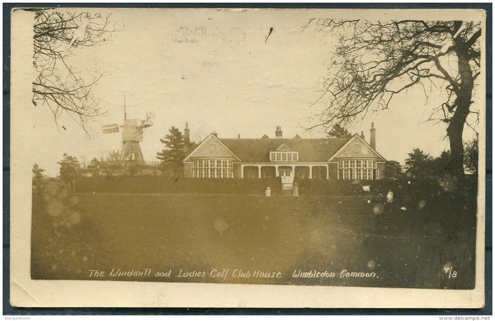The Windmill And Ladies Golf Club House, Wimbledon Common RP Postcard - Surrey