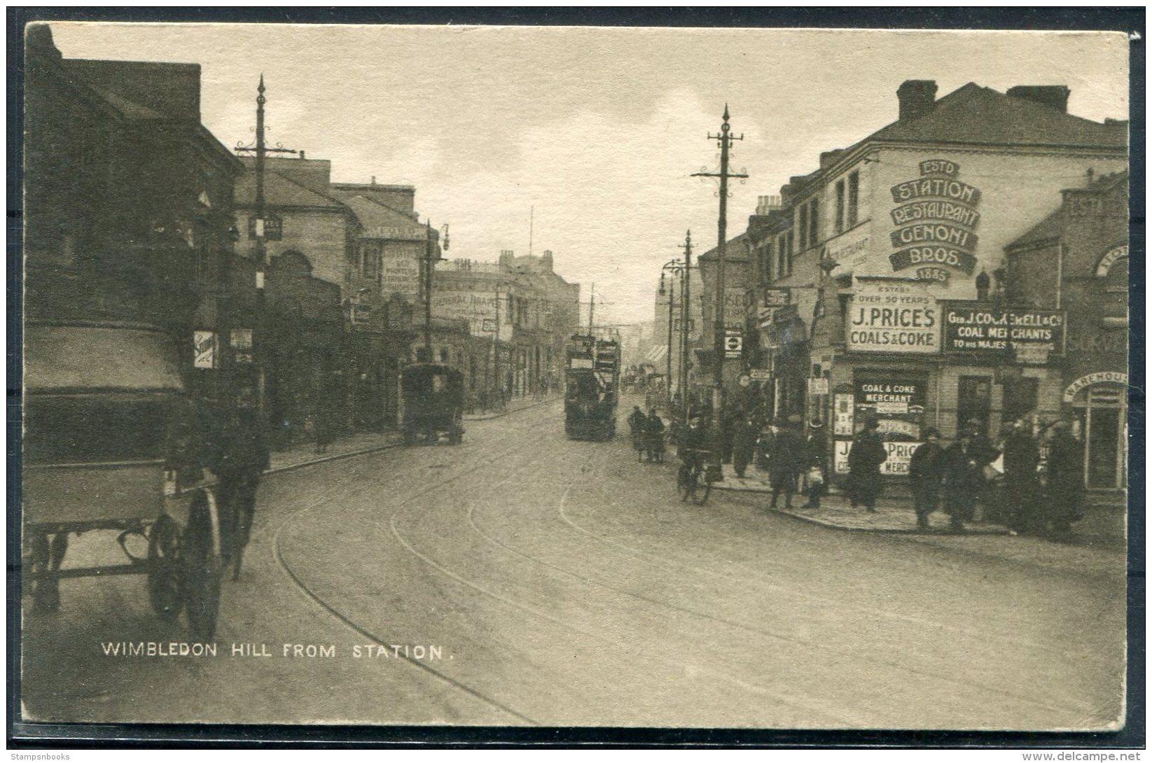 Wimbledon Hill From Station, YMCA Postcard - Surrey