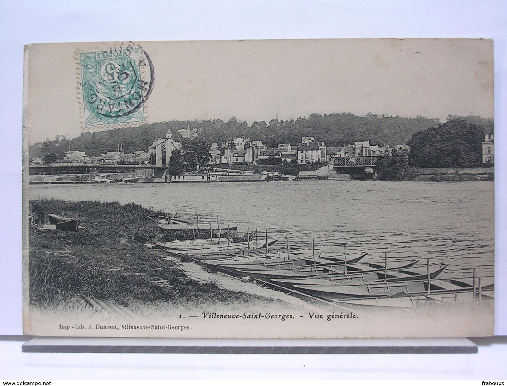 94 - VILLENEUVE SAINT GEORGES - VUE GENERALE - 1906 - Villeneuve Saint Georges