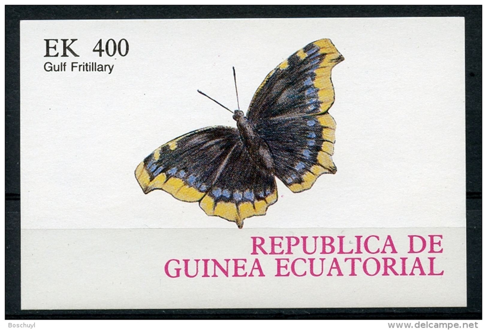 Equatorial Guinea, Butterflies, MNH Imperforated Proof - Guinée Equatoriale