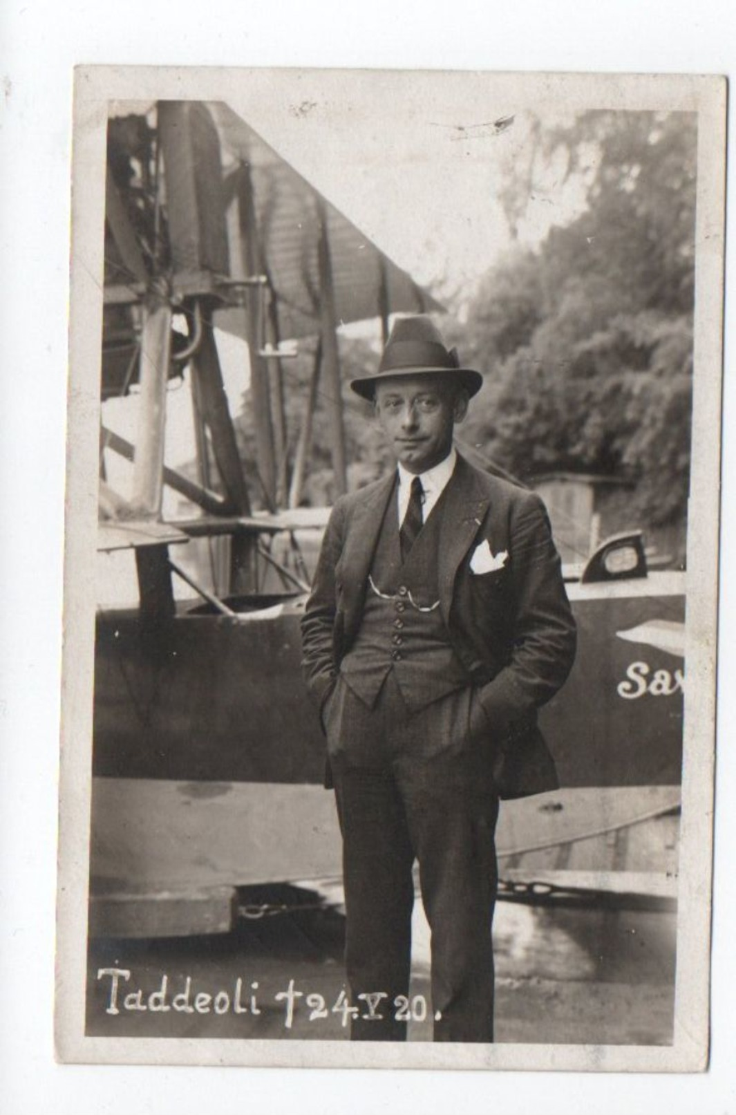 CPA Lausanne Taddeoli Avion 1926 ....G0000 - VD Vaud