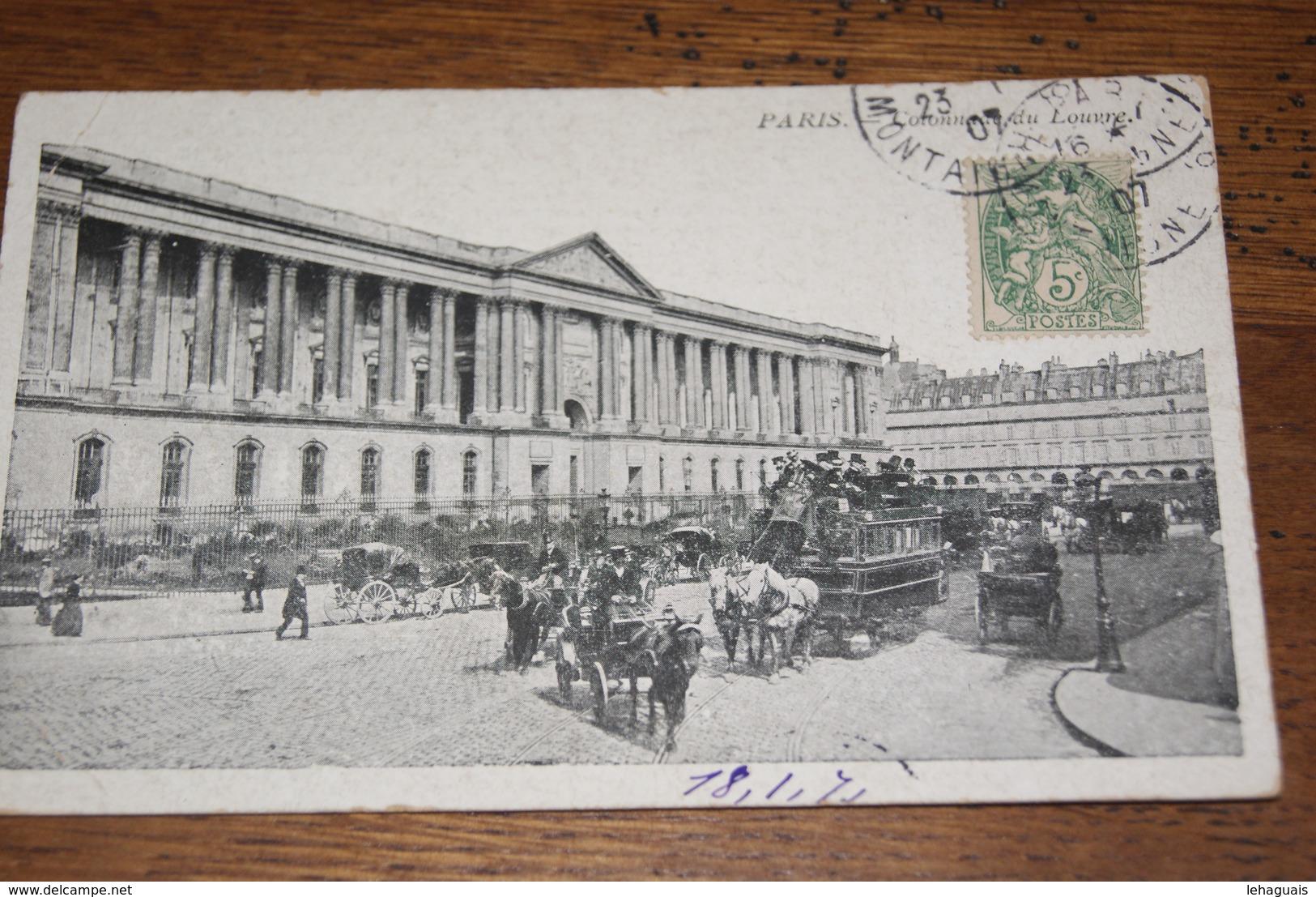 Les Colonnades Du Louvre (animée) 1907 - Taxi & Carrozzelle