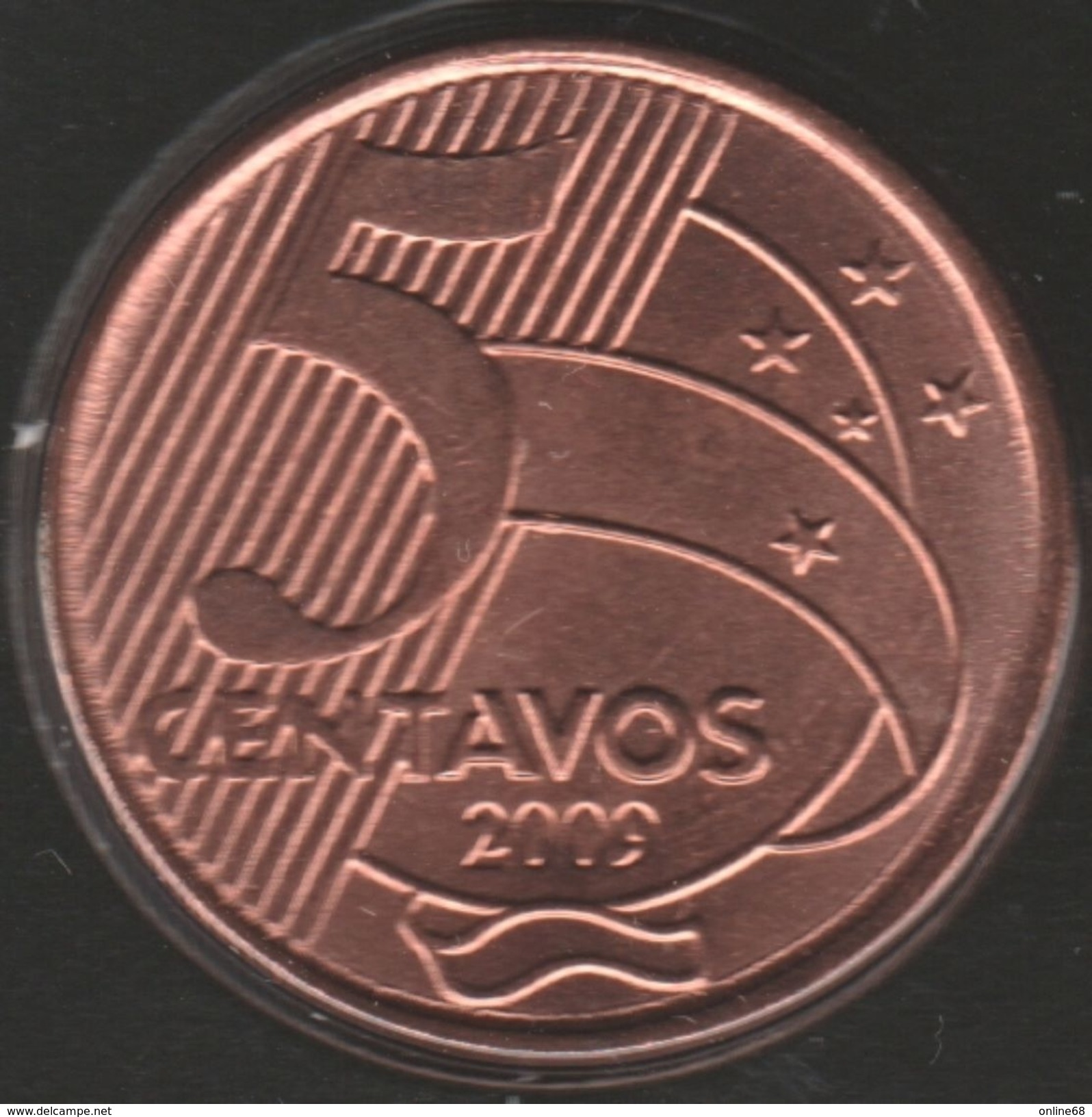 BRASIL 5 CENTAVOS 2009 KM# 648 Tiradentes - Brésil