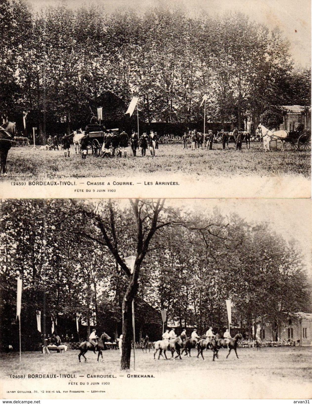 BORDEAUX TIVOLI - FÊTES Du 8 JUIN 1903 - BEL ENSEMBLE RARE  De 9 CPA - - Bordeaux
