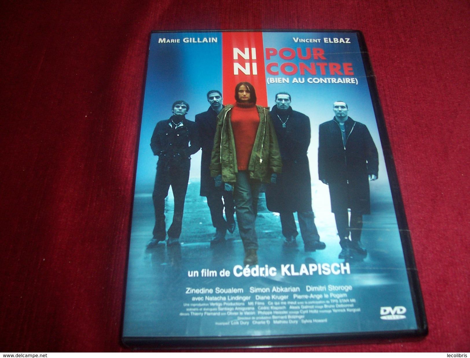 NI POUR NI CONTRE  BIEN AU CONTRAIRE  FILM DE CEDRIC KLAPISH AVEC MARIE GILLAIN ET VINCENT ELBAZ +++++++ - Policiers