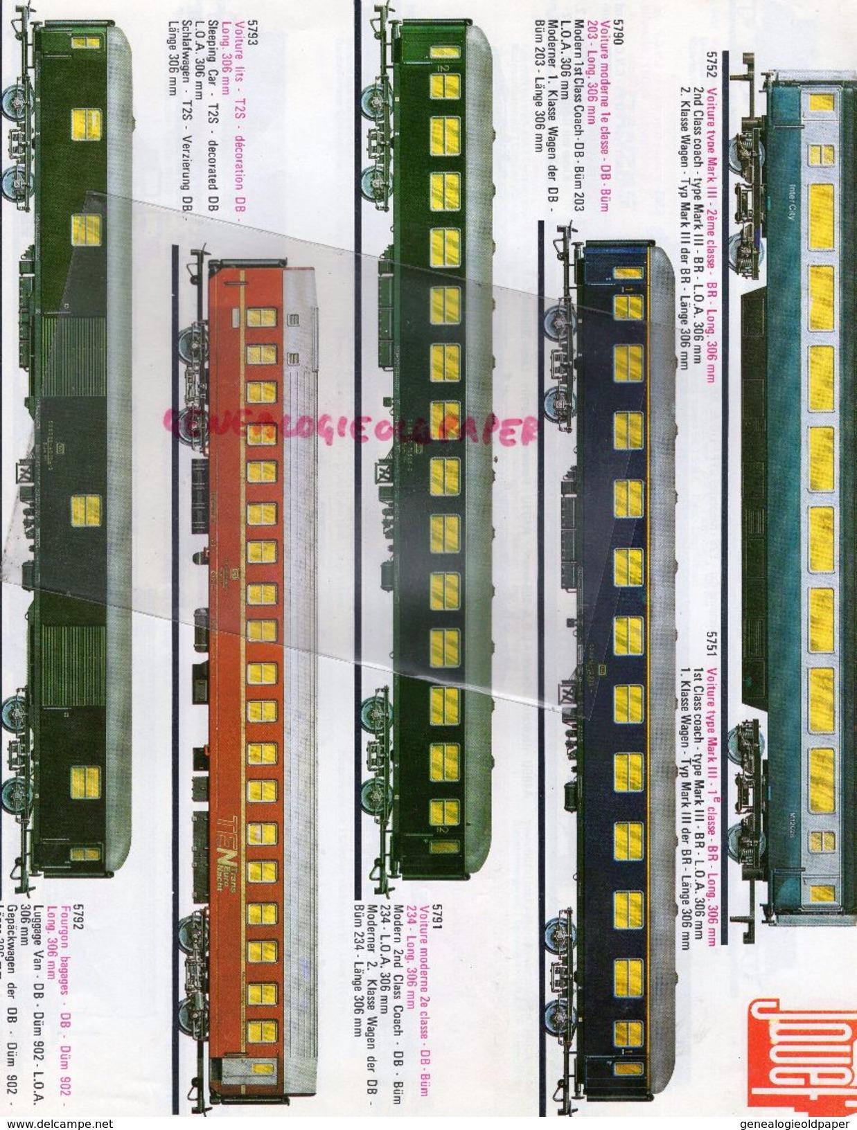 CATALOGUE JOUETS- JOUEF NOUVEAUTES 1977- LOCOMOTIVE GARE TRAINS- CACHET FARANDOLE ANGOULEME- HO-FERRARI-PORSCHE LIGIER - Railway & Tramway