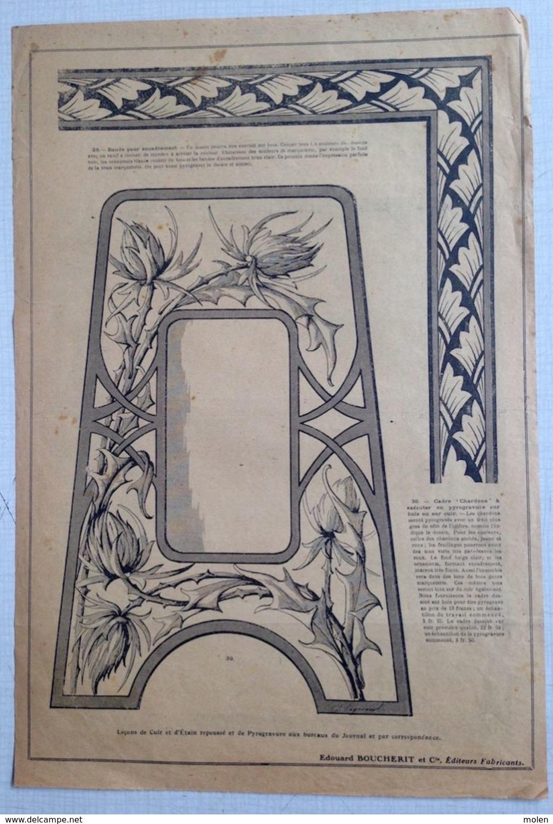 ©01-10-1919 LA BRODERIE ILLUSTREE EMBROIDERY BORDUURWERK STICKEREI RICAMO DMC CROSS STITCH Dentelle POINT DE CROIX R19 - Point De Croix
