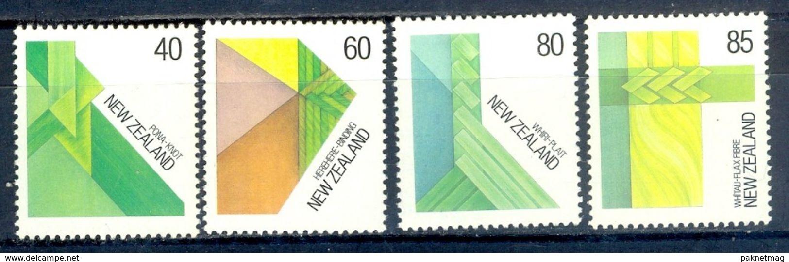 S103- New Zealand 1987. 40c Knot, 60c Binding, 80c Plait And 85c Flax Fiber Maori Fiber. Mint Never Hinged. - New Zealand