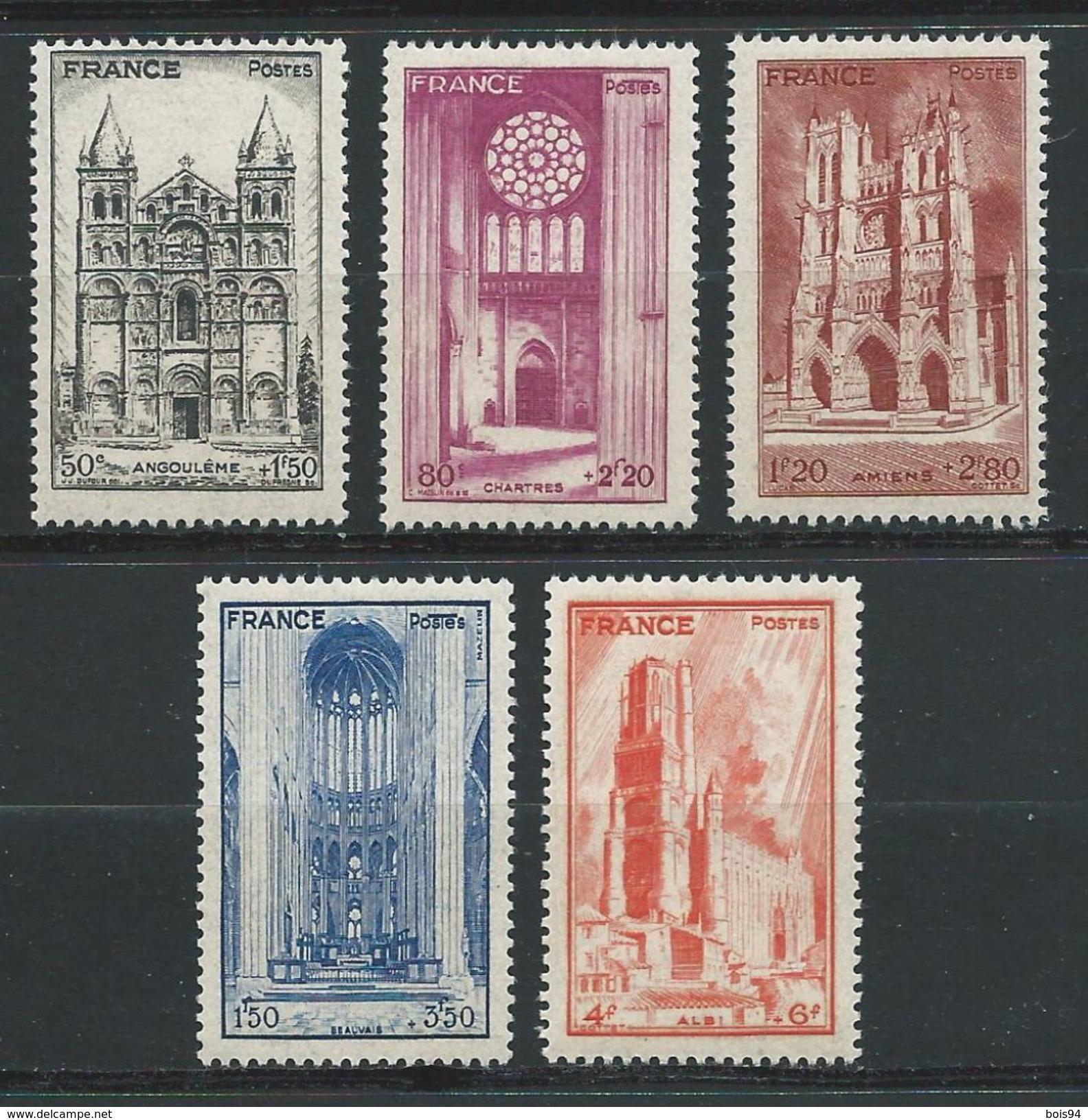 FRANCE 1944 . Série N°s 663 à 667  Neufs ** (MNH) - France