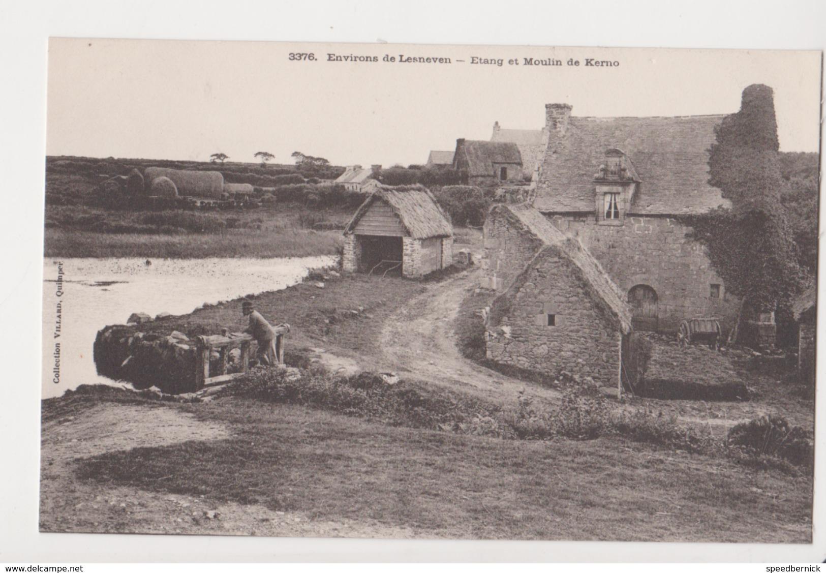 26299 Finistère - Environs De Lesneven - Etang Et Moulin De Kerno -  3376 Villard, Quimper -ecluse Manoir - Karten Bost - Lesneven