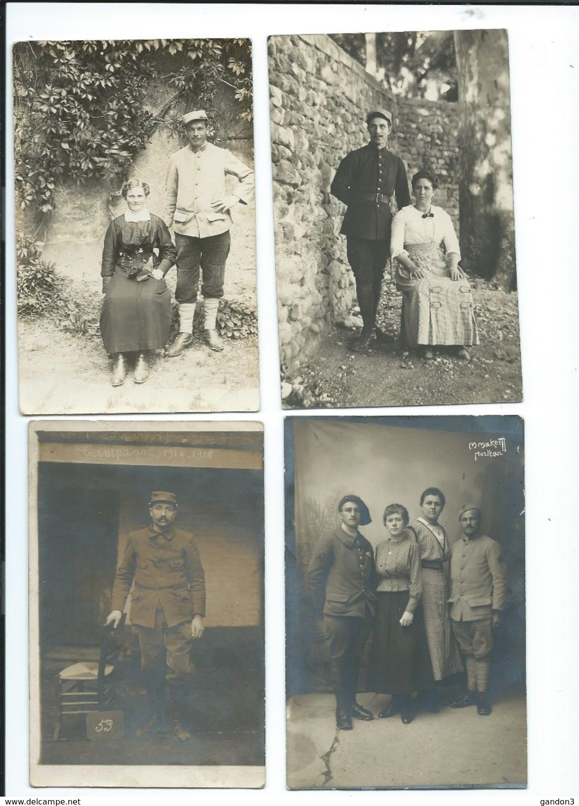LOT    De       200     Cartes  Postales  PHOTO  :     Guerre  1914-1918   -    Portraits  Et  Scènes Diverses - Guerre 1914-18