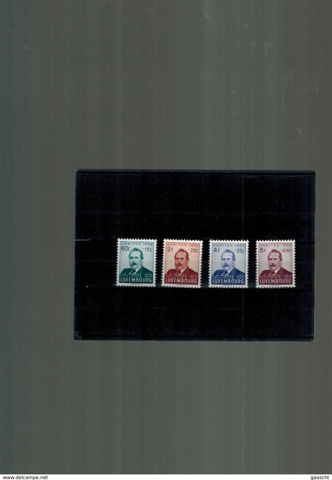 Luxembourg Serie De Timbres Caritas De 1952 Neuve Sans Charniere (postfrisch) Prifix 45._ EUR - Nuevos