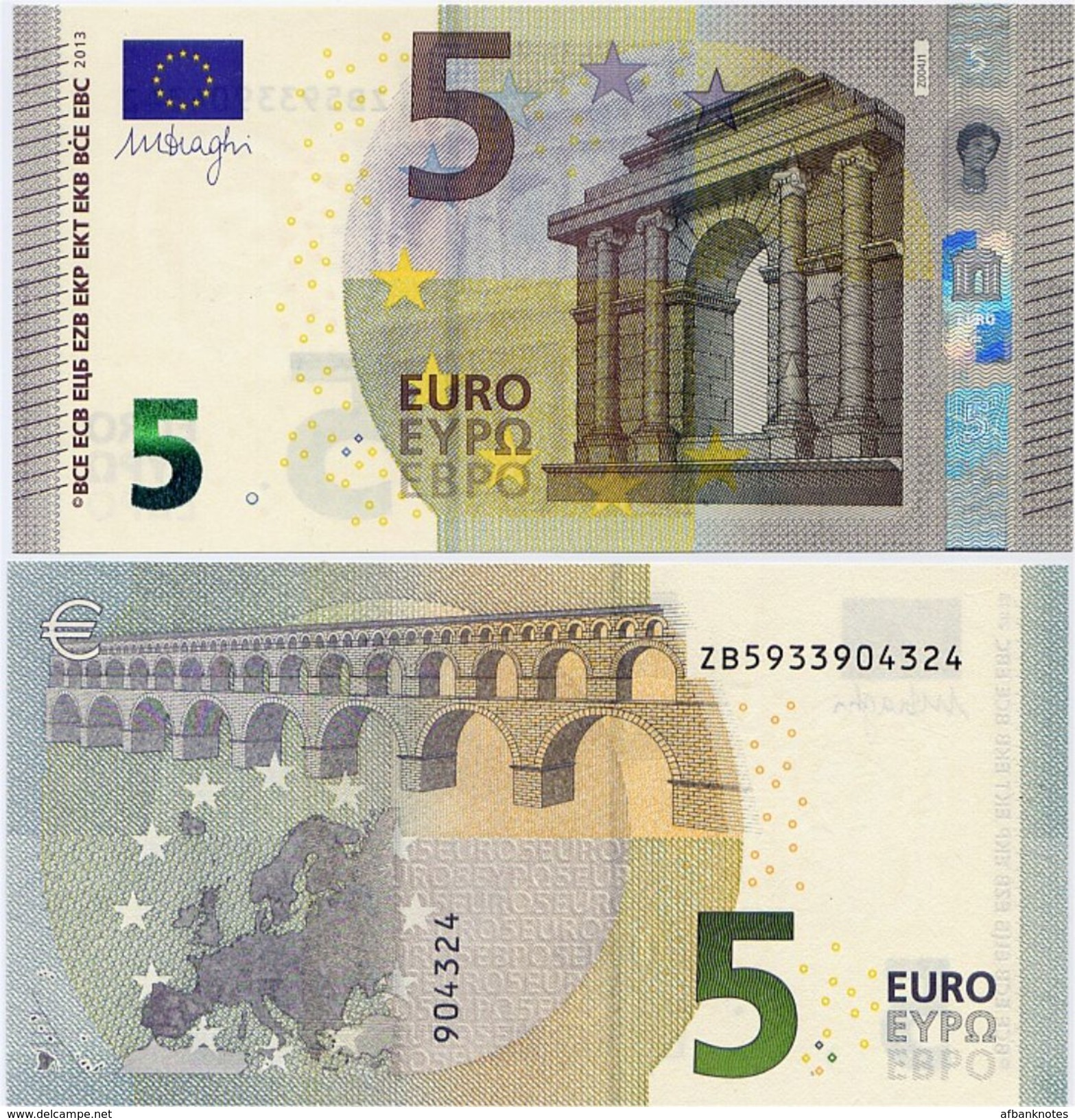 EUROPEAN UNION       5 Euro       P-20z       2013       UNC  [ Prefix: ZB] - EURO