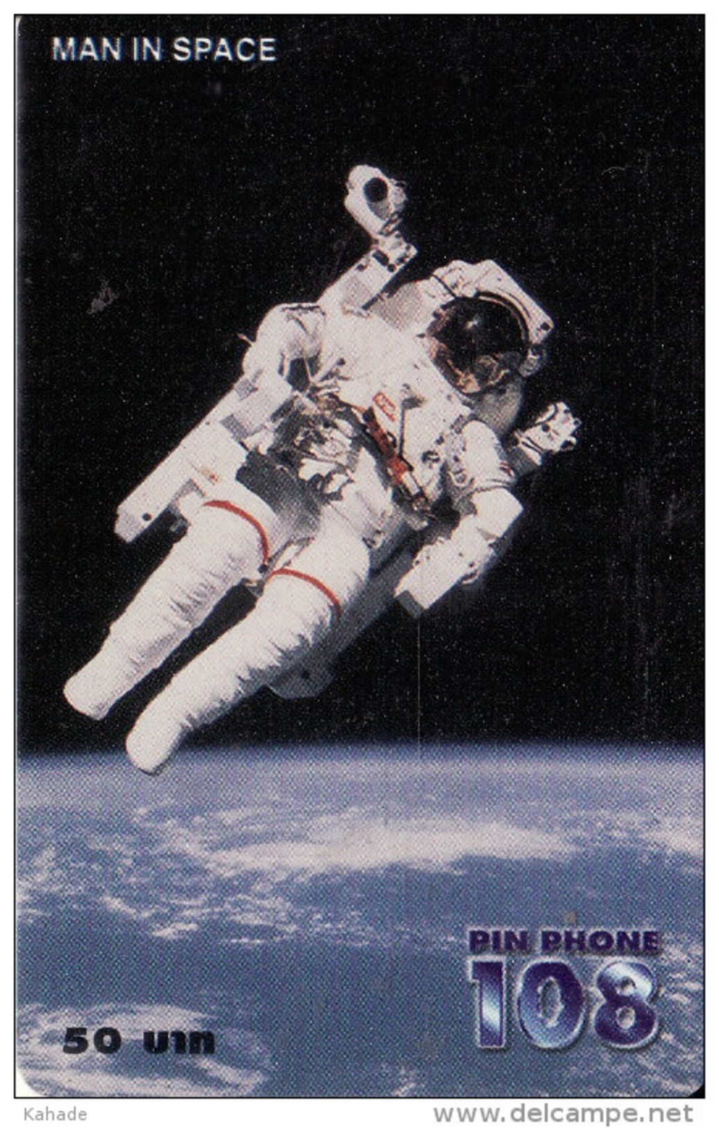 Thailand Pin Phone 108 Phonecard Man In Space Kat.244 - Thaïland
