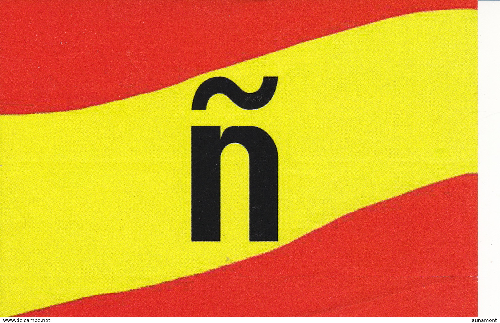 España--Pegatina Sobre La ñ De España---15 X 10 - Stickers
