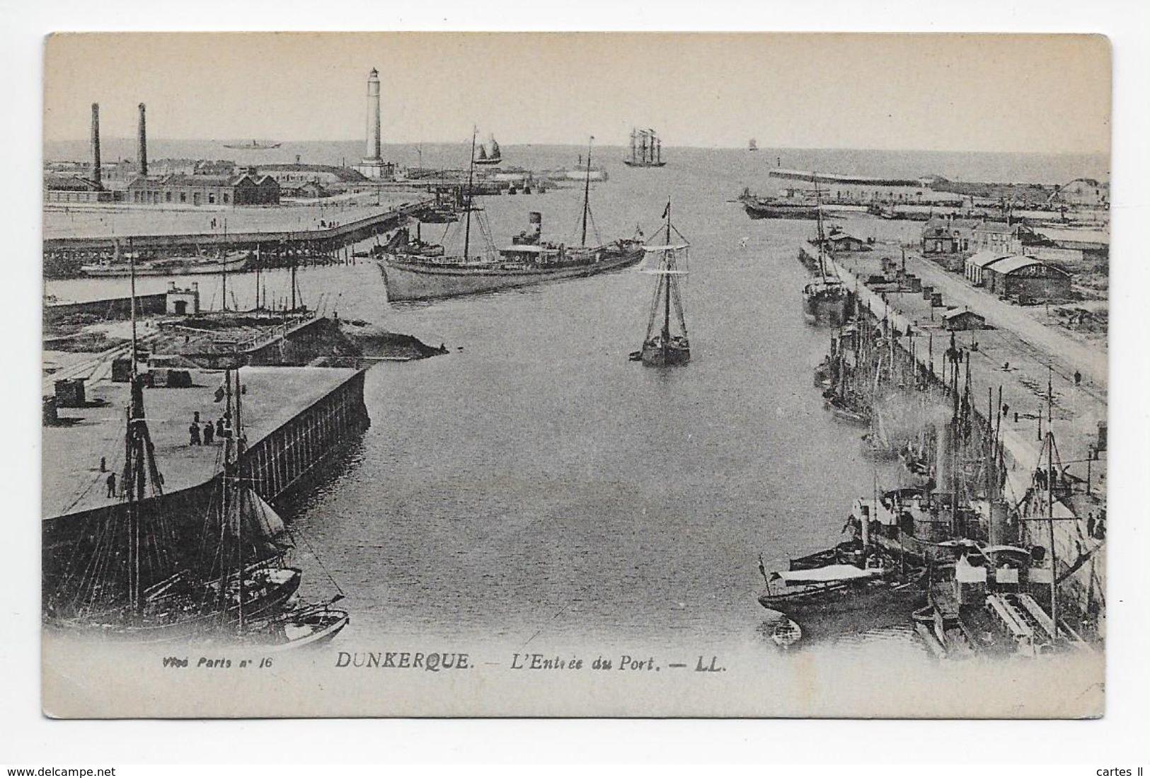 DC 851 - DUNKERQUE - L'Entree Du Port - LL 16 - Dunkerque