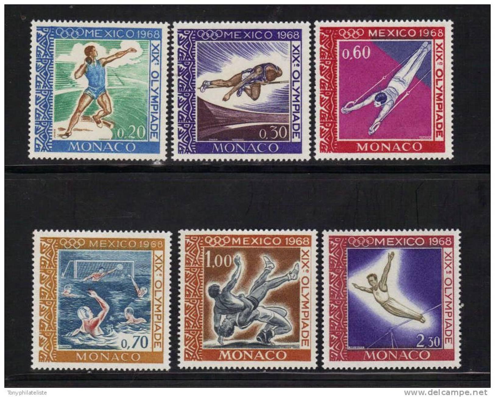 Monaco Timbre De 1968 N°736 A 741 Jeux Olympiques De Mexico   Timbres Neuf ** - Monaco