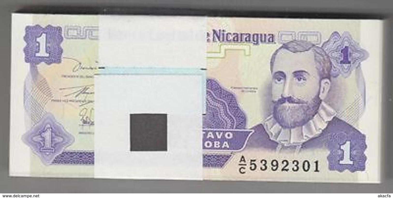 NICARAGUA 1991 1 Centavo Bundle 100pcs UNC. Billets P 167 Wholesale - Non Classés