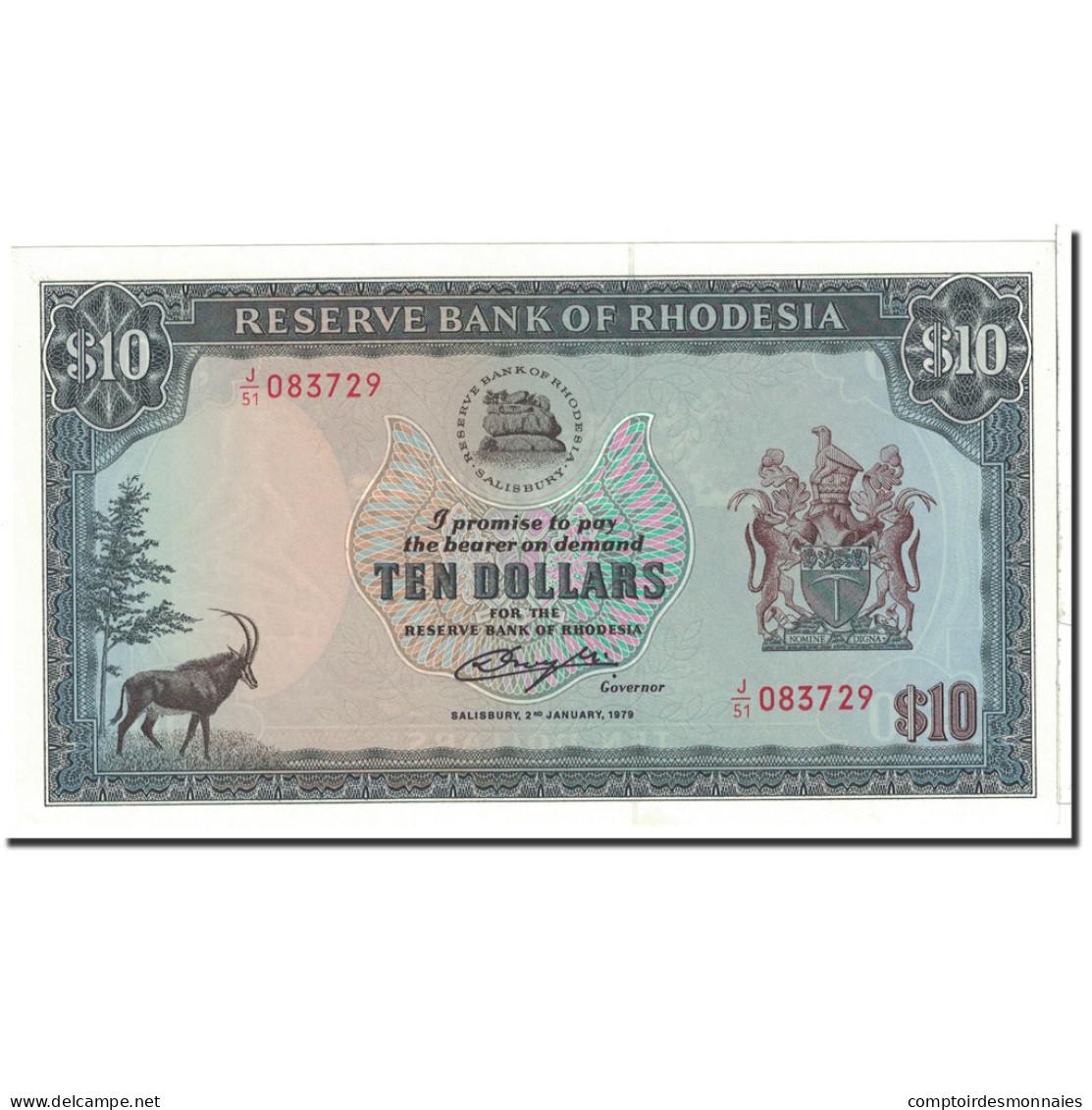 Rhodésie, 10 Dollars, 1979, KM:41a, 1979-01-02, NEUF - Rhodésie