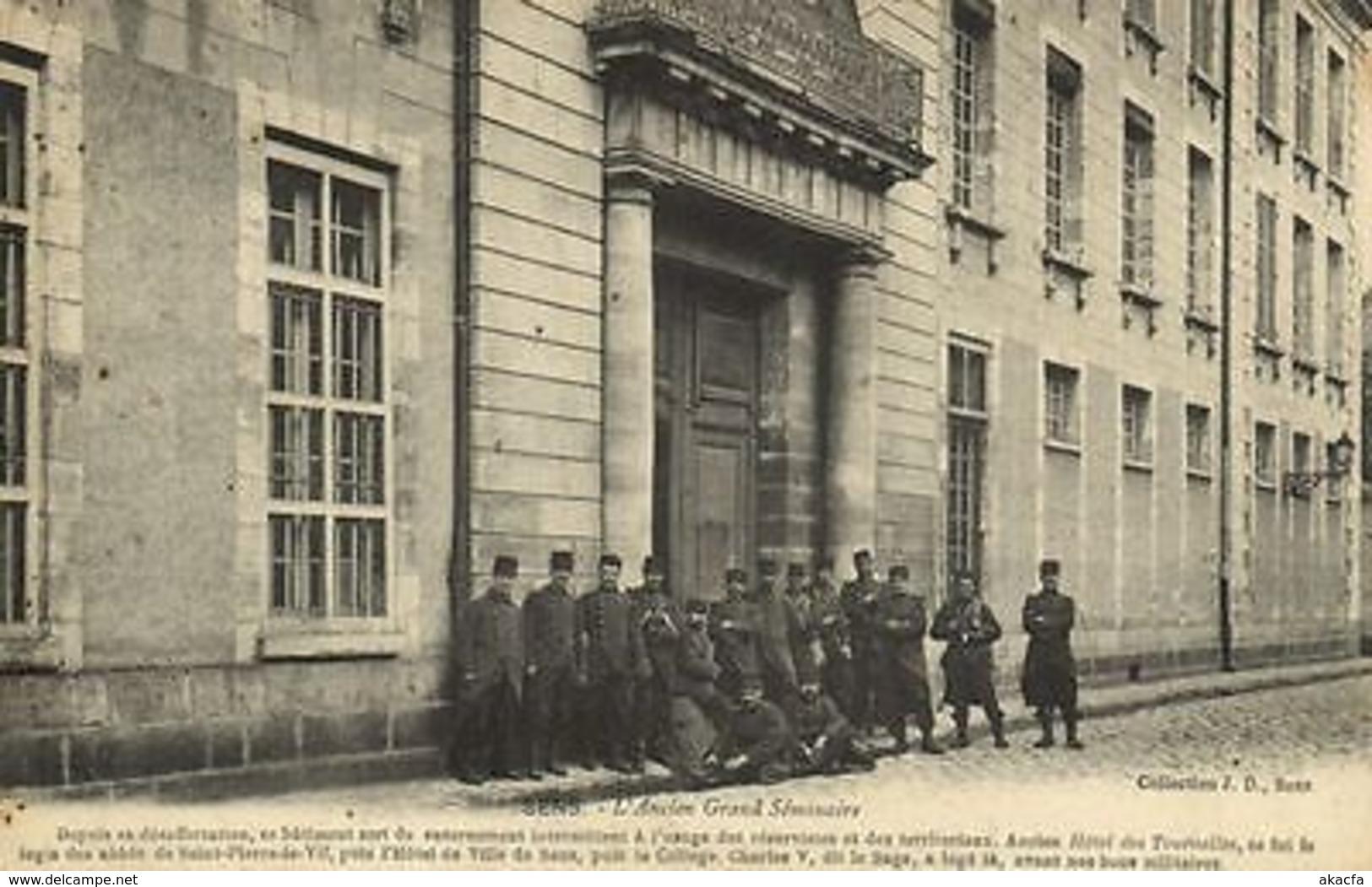 CPA Militaire (Dep.89) Sens - L'Ancien Grand Séminaire (91210) - Non Classés