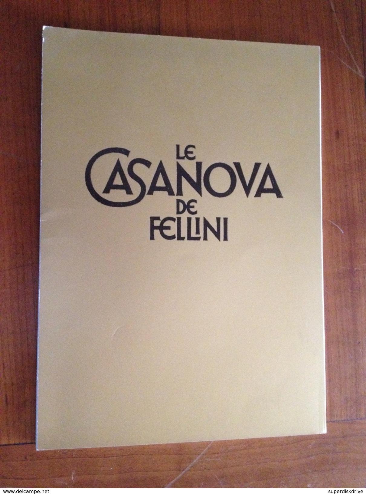 "Synopsis De Presse ""Le Casanova De Fellini  "" 1974 - Programas"