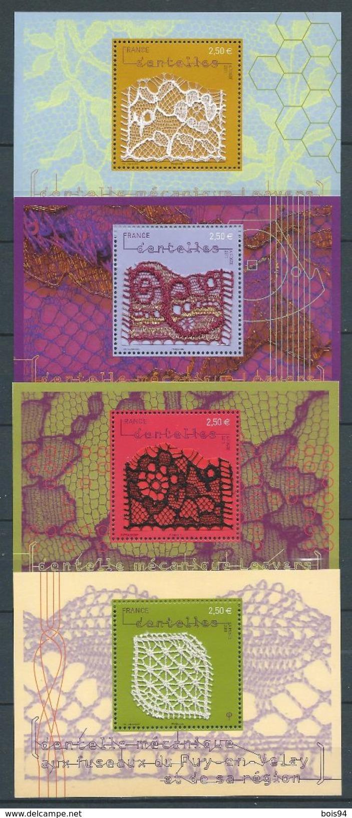 FRANCE 2011 . Feuillets  N°s 4600 à 4603  Neufs ** (MNH) - Blocs & Feuillets