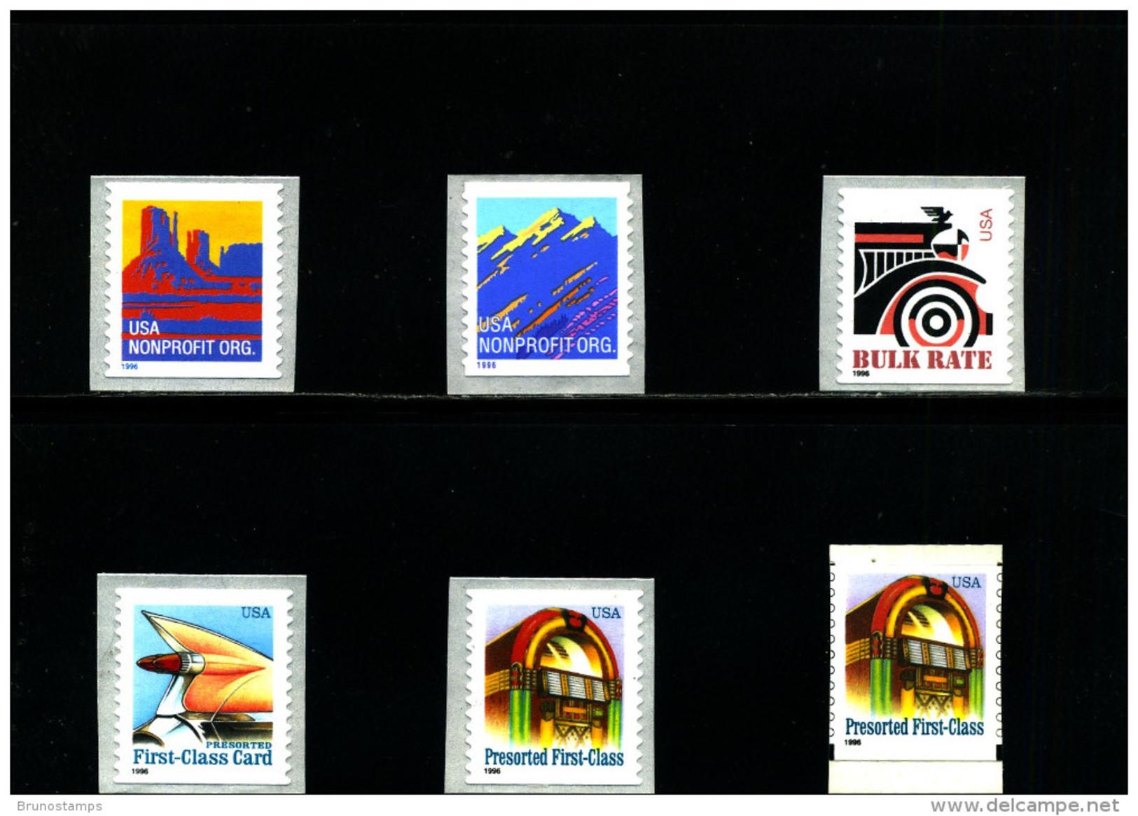 UNITED STATES/USA - 1996  DEFINITIVES  SELF ADHESIVE  SET  MINT NH - Neufs