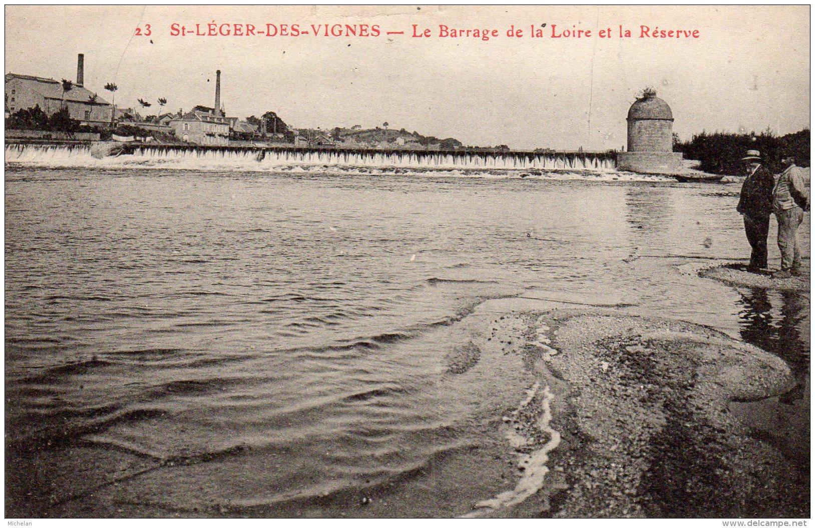 CPA   58   SAINT-LEGER-LES-VIGNES---LE BARRAGE DE LA LOIRE ET LA RESERVE - France